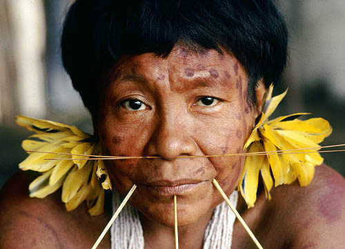 Brazil. Amazon rain forest. Yanomami portrait 5.