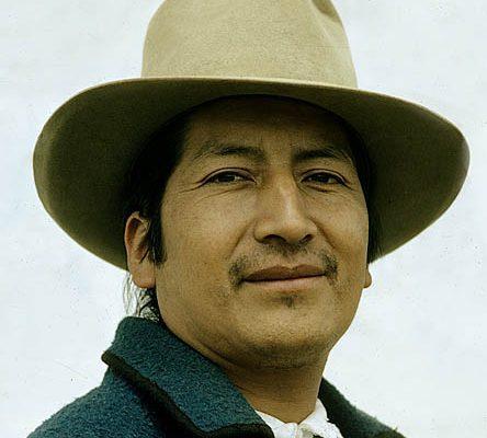 Ecuador. Near Otavalo. Otavalo Indian.