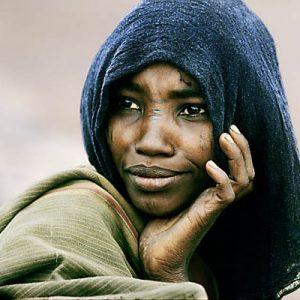Ethiopia. Danakil Depression (Great Rift Valley). Danakil (Afar) nomad.