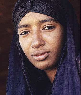 Niger Republic. Sahel. Tuareg nomad woman.