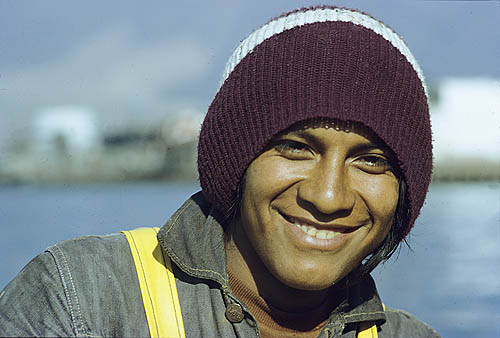 Peru. Chimbote. Indian fisherman.